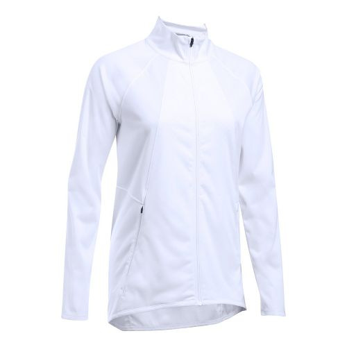 Womens Under Armour Pick Up The Pace Storm Reactor Running Jackets - White M