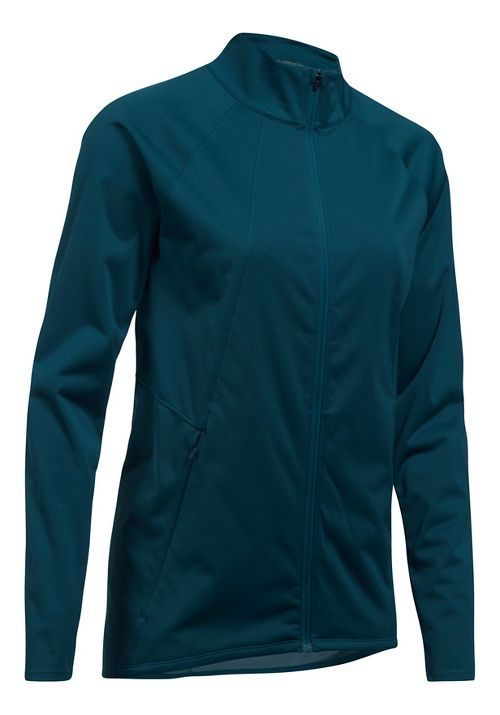 Womens Under Armour Pick Up The Pace Storm Reactor Running Jackets - True Ink M