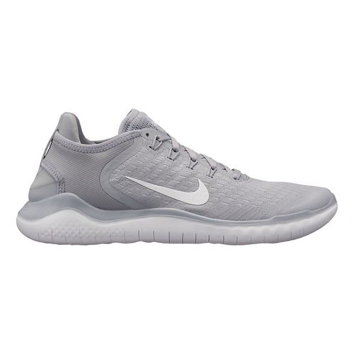 Mens Nike Free RN 2018 Running Shoe - Grey/White 14
