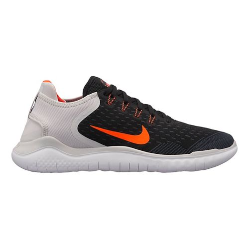 Mens Nike Free RN 2018 Running Shoe - Black/Crimson 9