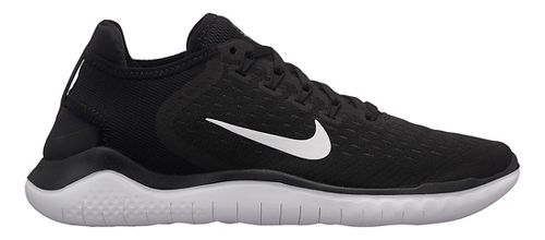 Womens Nike Free RN 2018 Running Shoe - Black/White 9