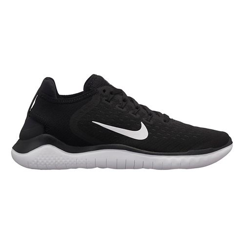 Womens Nike Free RN 2018 Running Shoe - Black/White 8.5