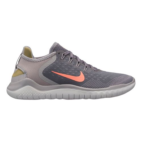 Womens Nike Free RN 2018 Running Shoe - Grey/Crimson 7.5