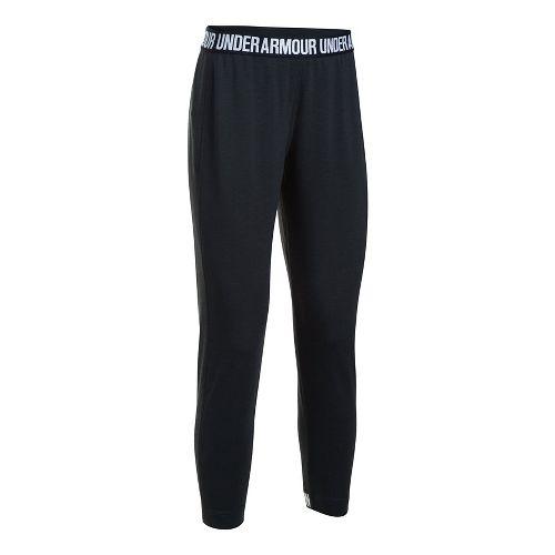 Womens Under Armour Featherweight Fleece Pants - Black S