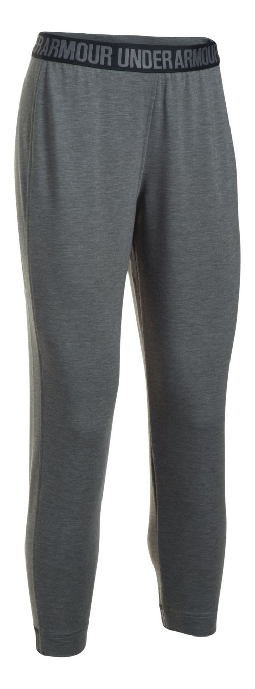 Womens Under Armour Featherweight Fleece Pants - Carbon Heather S