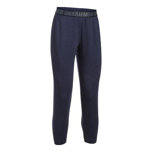 Womens Under Armour Featherweight Fleece Pants - Midnight Navy XL