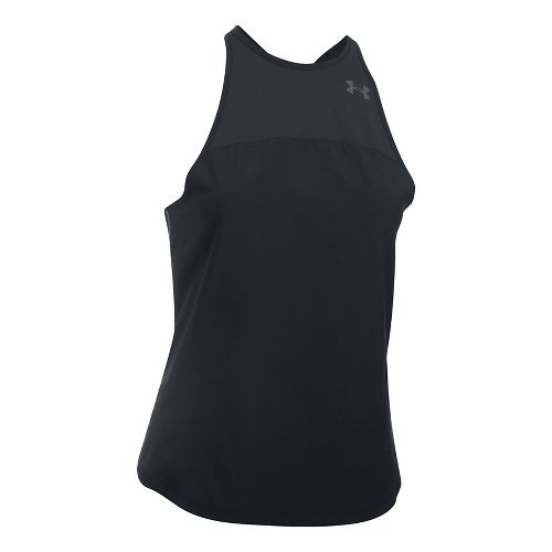 Womens Under Armour Accelerate Sleeveless & Tank Tops Technical Tops - Black S
