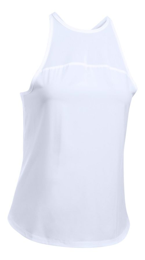 Womens Under Armour Accelerate Sleeveless & Tank Tops Technical Tops - White L