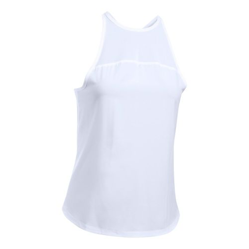 Womens Under Armour Accelerate Sleeveless & Tank Tops Technical Tops - White XL