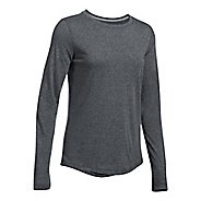 Womens Under Armour Threadborne Train Twist Long Sleeve Technical Tops - Black XS
