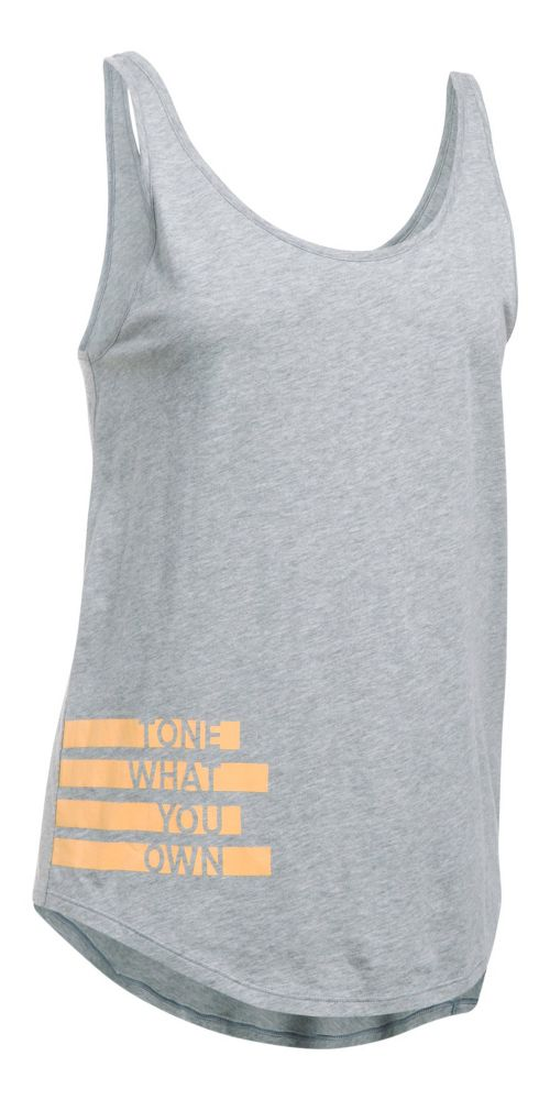 Womens Under Armour Tone Own Uback Sleeveless & Tank Tops Technical Tops - True Grey Heather L
