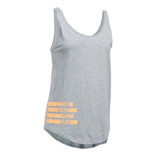 Womens Under Armour Tone Own Uback Sleeveless & Tank Tops Technical Tops - True Grey Heather M