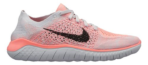 Womens Nike Free RN Flyknit 2018 Running Shoe - White/Crimson 8.5