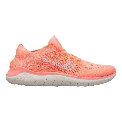 Womens Nike Free RN Flyknit 2018 Running Shoe - Crimson 11