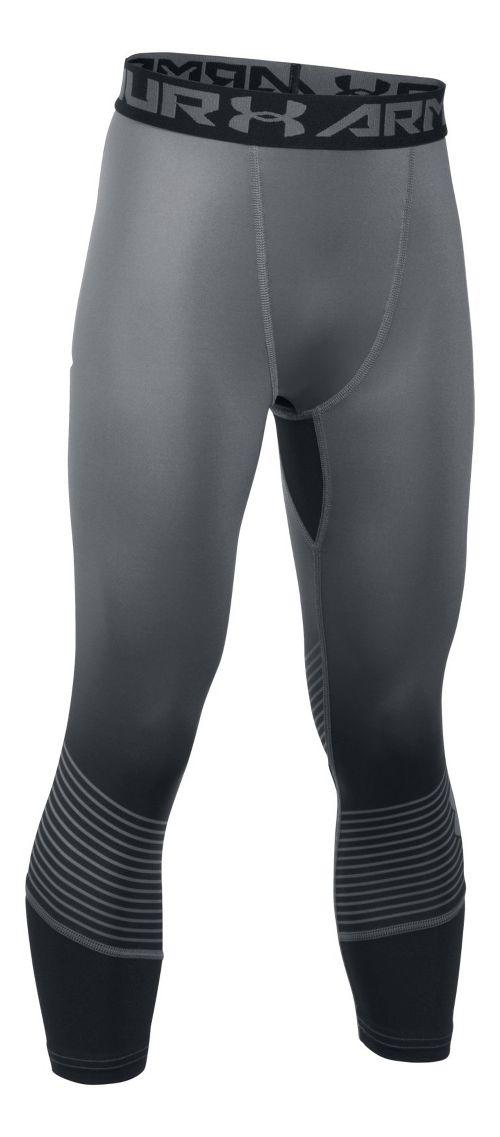 Under Armour HeatGear 3/4 Novelty Legging Capris Tights - Black/Graphite YL