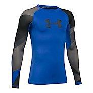 Under Armour Boys HeatGear Novelty Long Sleeve Technical Tops - Ultra Blue YS