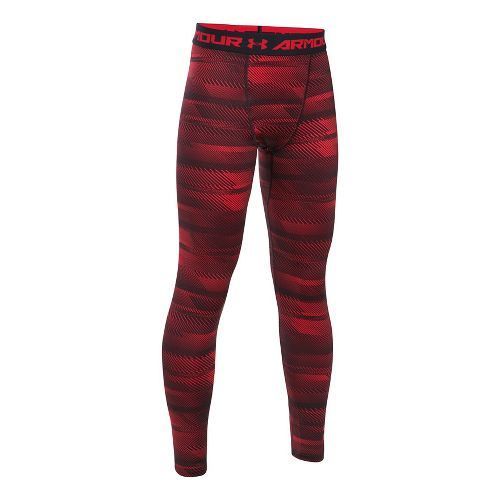 Under Armour Boys ColdGear Novelty Leggings  Tights - Red/Black YL