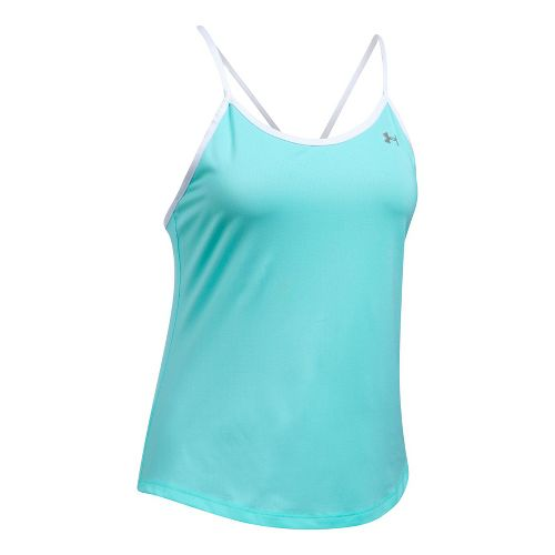 Womens Under Armour Fly By Strappy Sleeveless & Tank Tops Technical Tops - Blue Infinity S