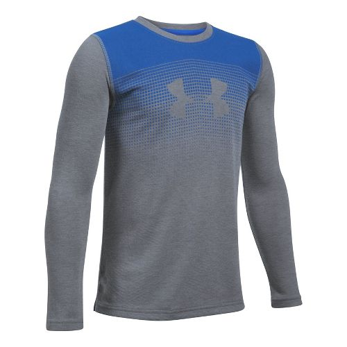 Under Armour Infrared Long Sleeve Technical Tops - Graphite/Blue YXS