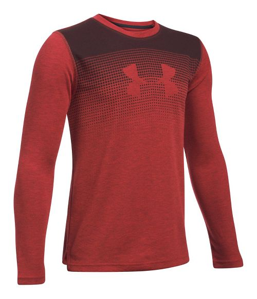 Under Armour Infrared Long Sleeve Technical Tops - Red/Black YS