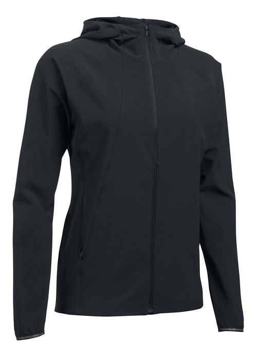 Womens Under Armour Outrun The Storm Running Jackets - Black M