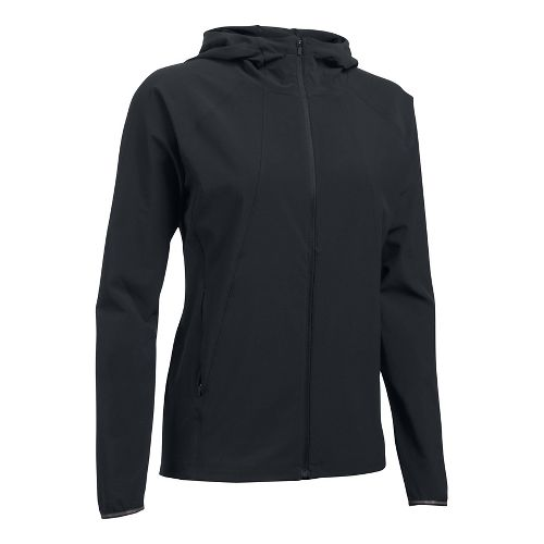Womens Under Armour Outrun The Storm Running Jackets - Black L