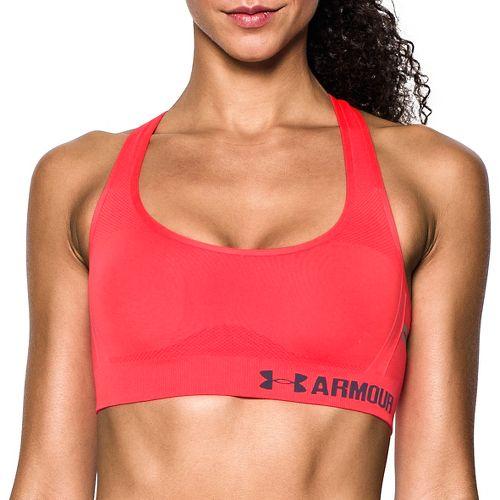 Womens Under Armour Threadborne Crossback Solid Sports Bras - Marathon Red S
