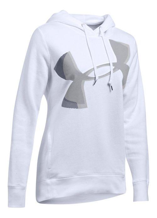 Womens Under Armour Favorite Fleece UA Logo Graphic Half-Zips & Hoodies Technical Tops - ...