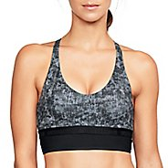 Womens Under Armour Low Mesh Longline Printed Sports Bras - Black M