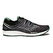 Mens Saucony Hurricane ISO 4 Running Shoe - Black/Green 10.5