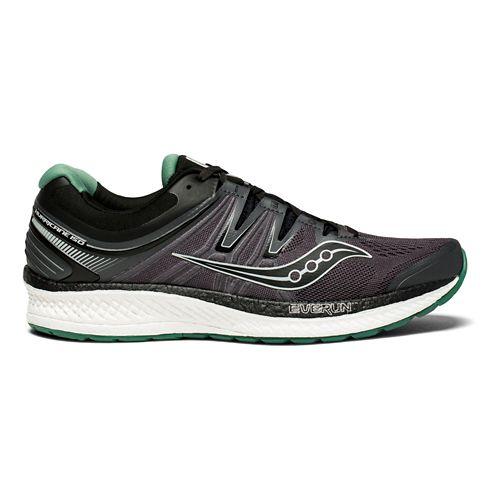 Mens Saucony Hurricane ISO 4 Running Shoe - Black/Green 12.5