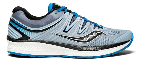 Mens Saucony Hurricane ISO 4 Running Shoe - Grey/Blue 13