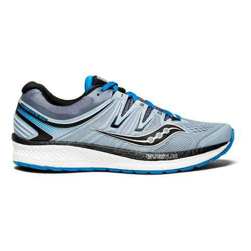 Mens Saucony Hurricane ISO 4 Running Shoe - Grey/Blue 8.5