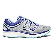 Womens Saucony Hurricane ISO 4 Running Shoe - Grey/Purple 10
