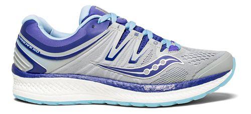 Womens Saucony Hurricane ISO 4 Running Shoe - Grey/Purple 12