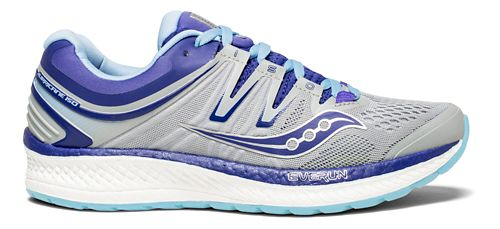 Womens Saucony Hurricane ISO 4 Running Shoe - Grey/Purple 5.5