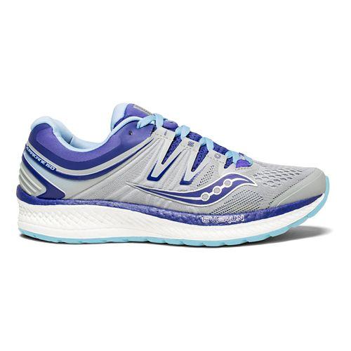 Womens Saucony Hurricane ISO 4 Running Shoe - Grey/Purple 11.5