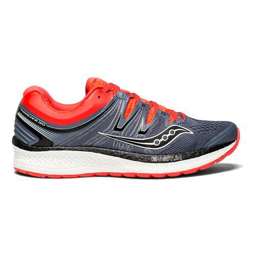 Womens Saucony Hurricane ISO 4 Running Shoe - Grey/ViZi Red 8