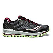Womens Saucony Peregrine 8 Trail Running Shoe - Grey/Mint 6.5
