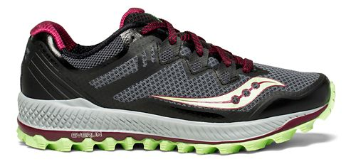 Womens Saucony Peregrine 8 Trail Running Shoe - Grey/Mint 10.5