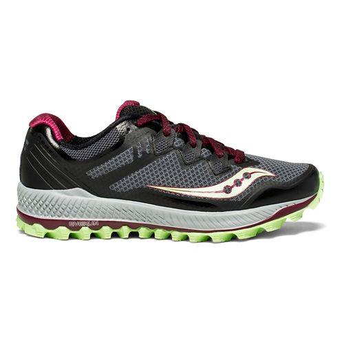 Womens Saucony Peregrine 8 Trail Running Shoe - Grey/Mint 7.5