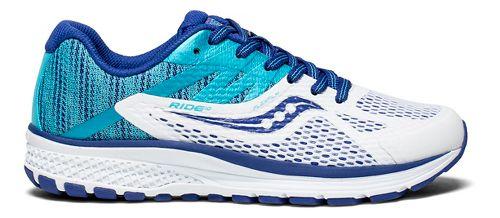 Kids Saucony Ride 10 Running Shoe - Blue/White 5.5Y