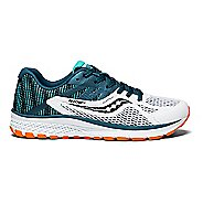 Kids Saucony Ride 10 Running Shoe - Teal/White 3Y