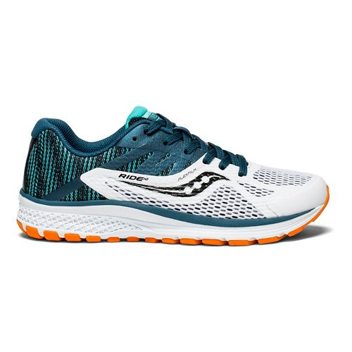 Kids Saucony Ride 10 Running Shoe - Teal/White 6Y