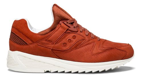 Mens Saucony Grid 8500 HT Casual Shoe - Red Leather 10.5