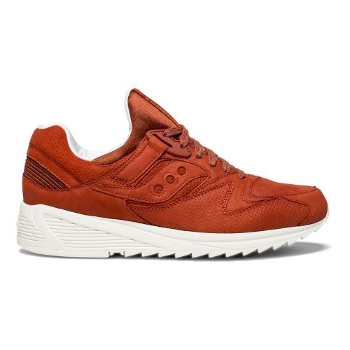 Mens Saucony Grid 8500 HT Casual Shoe - Red Leather 8.5