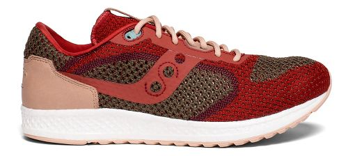 Mens Saucony Shadow 5000 EVR Casual Shoe - Red/Tan 12