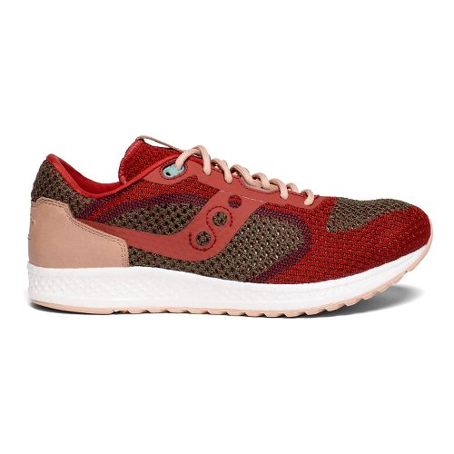 Mens Saucony Shadow 5000 EVR Casual Shoe - Red/Tan 8.5
