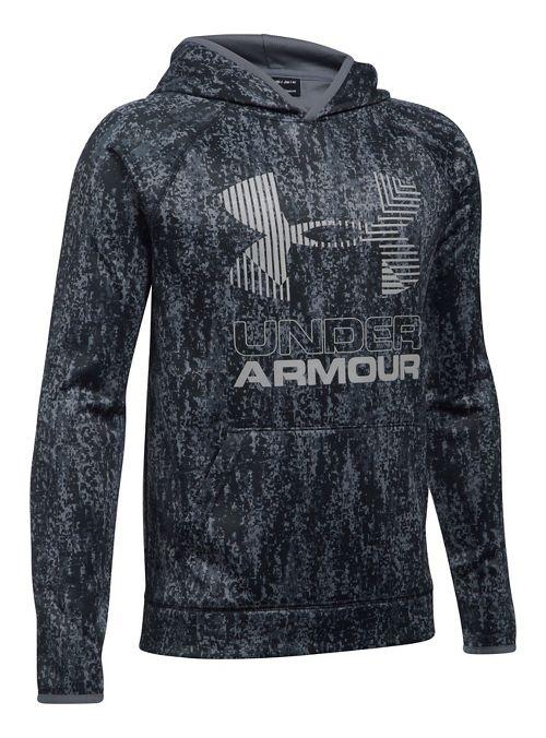 Under Armour Scary Good Fleece Novelty Big Logo Half-Zips & Hoodies Technical Tops - Black YM
