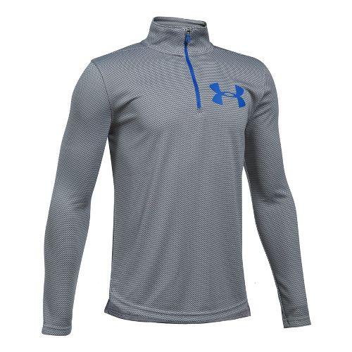 Under Armour Textured Tech 1/4 Zip Half-Zips & Hoodies Technical Tops - Graphite/Blue YXL